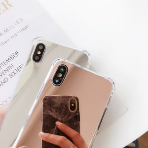 Luxury Mirror Glass Phone Case For Iphone - Engineracing