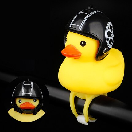 Bicycle Horn Light Small Yellow Duck with Helmet - Engineracing