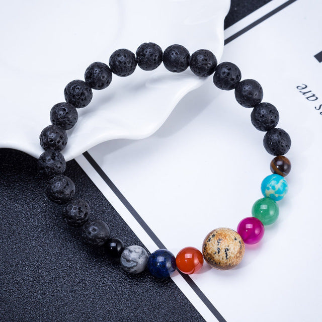 Fashion Eight Planets Bead Chakra Bracelet - Engineracing