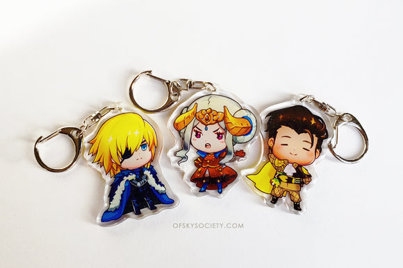 Three Houses - Set of 3 Keychain Charm