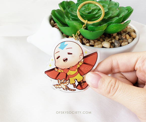 Aang - Avatar the Last Air Bender Keychain Charm