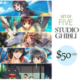 Set of 5 Studio Ghibli Posters
