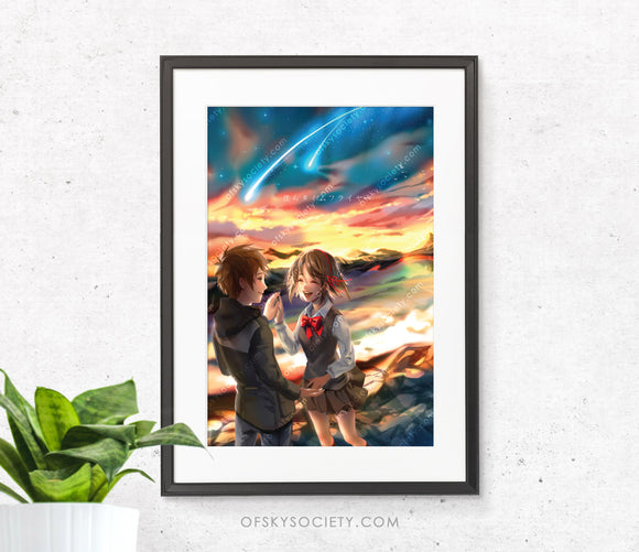 Your Name, Kimi no na Wa Fanart Print
