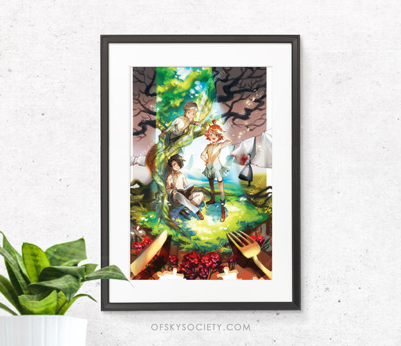 The Promised Neverland Fanart Print
