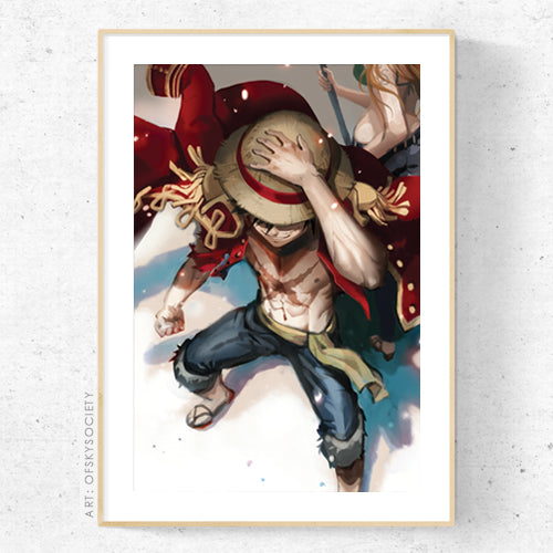 Luffy, One Piece - Print