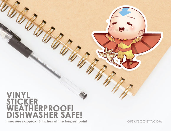 Aang, Avatar the Last Air Bender - Vinyl Sticker
