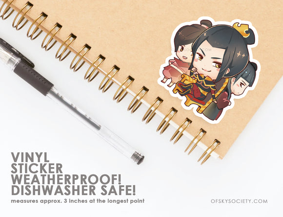 Azula, Avatar the Last Air Bender - Vinyl Sticker