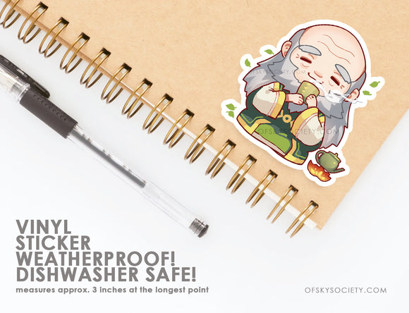 Uncle Iroh, Avatar the Last Air Bender - Vinyl Sticker