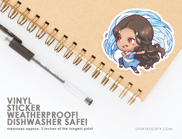 Katara, Avatar the Last Air Bender - Vinyl Sticker