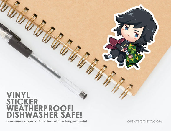 Giyu Tomioka, Demon Slayer - Vinyl Sticker