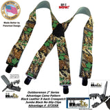 "Holdup Genuine Advantage Pattern Camouflage Hunting Suspenders with 2"" wide Straps and Black Patented No-slip Jumbo Clips"