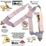 "HoldUp Brand 2"" Wide Tan Under Up Suspenders With Patented Jumbo Gripper Clasp"