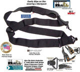 "HoldUps Brand Black 2"" Wide Under-Up Series Super Soft Suspenders with Patented Jumbo Black Gripper Clasp"