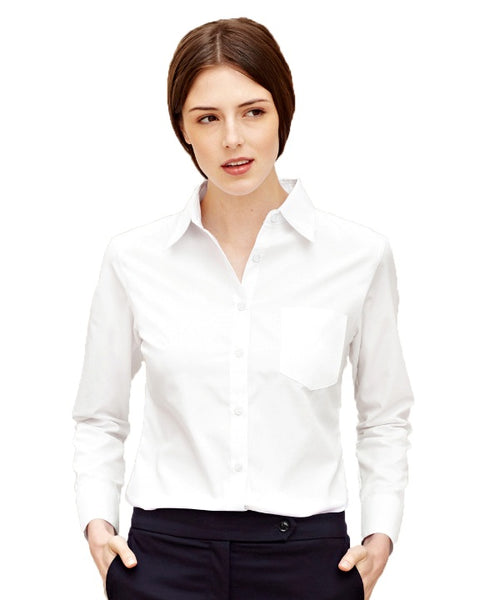 Lady-fit Long Sleeve Poplin Blouse