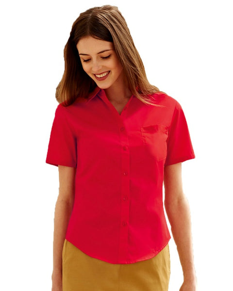 Lady-fit Short Sleeve Poplin Blouse