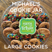 Birthday Cookies from Michael's Cookie Jar  - large size