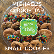 Birthday Cookies from Michael's Cookie Jar - small size