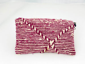 PINK AND WHITE STRIPE MOROCCAN BAG