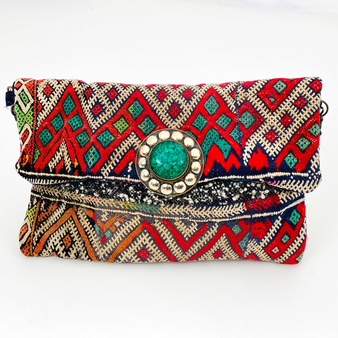 EMERALD AND RUBY MOROCCAN BAG