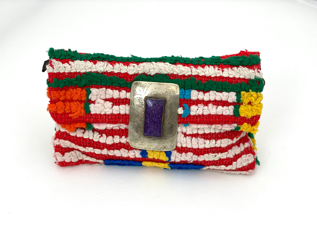 PURPLE STONE MOROCCAN BAG
