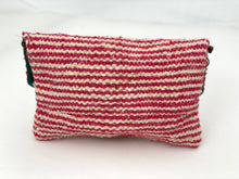 Load image into Gallery viewer, RED AND WHITE STRIPED MOROCCAN BAG