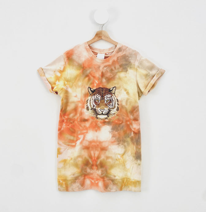 ICE-DYED TIGER T-SHIRT Dress