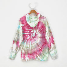 Load image into Gallery viewer, MINT AND PINK SWIRL HOODIE