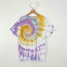 Load image into Gallery viewer, ICE-DYED COLOURFUL SWIRL T-SHIRT