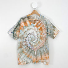 Load image into Gallery viewer, ICE-DYED EARTHY SWIRL T-SHIRT