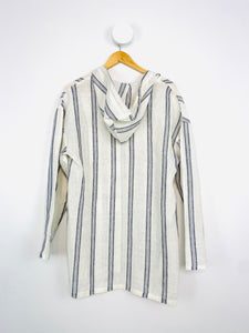 BLUE AND WHITE STRIPED KAFTAN