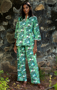 Radha Tunic Pj Set- Banana Leaves