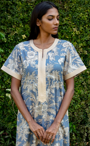 Diya Nightgown- Blue Chinoiserie