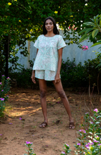 Load image into Gallery viewer, Ella Shorts Set- Mint Floral
