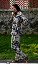 Load image into Gallery viewer, Kira Long Sleeved PJ Set- Black Chinoiserie
