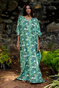 Surya Caftan- Banana Leaves