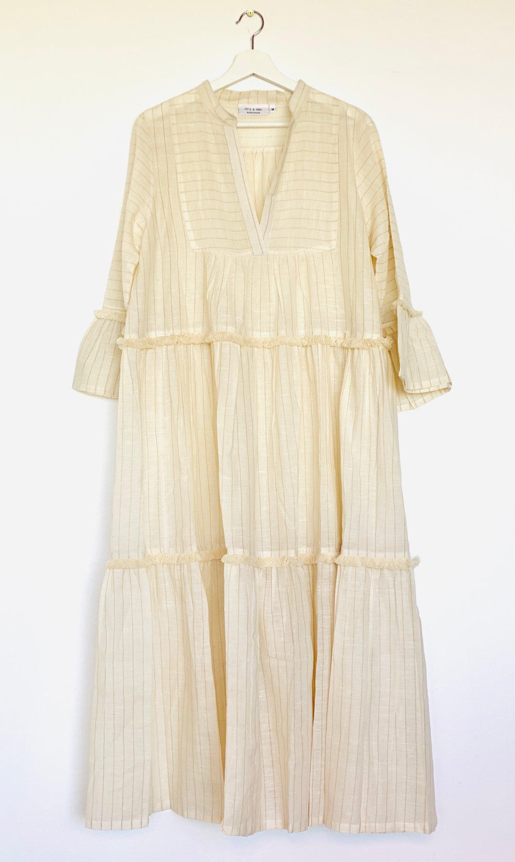 Khadi Cotton Tiered Long Dress