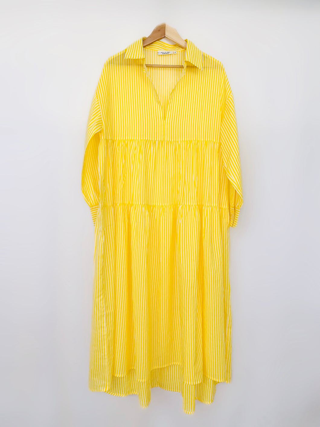 Sunshine Yellow Tiered Dress