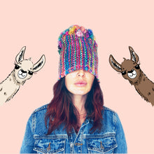 Load image into Gallery viewer, Rainbow Llama Beanie