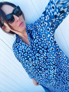 IT'S A FAD. Original Leopard BIG Dress SHIRT