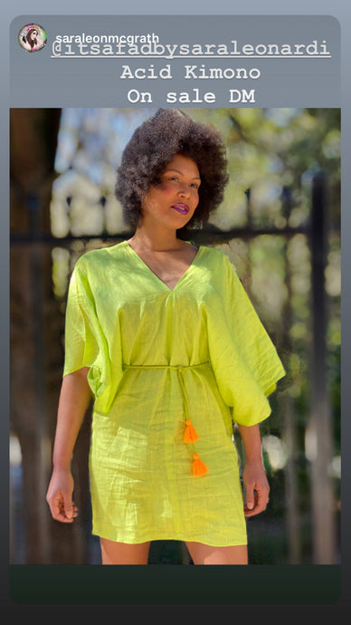Acid Green kimono dress