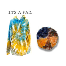 Load image into Gallery viewer, Beni Blue Ice Dye Hoodie