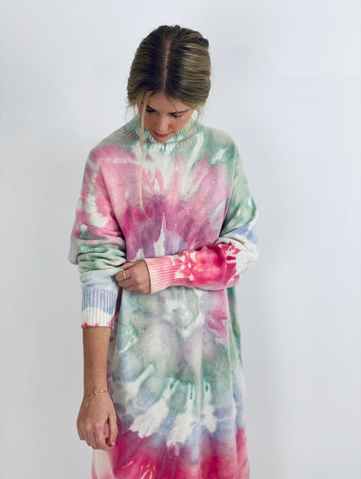Candy Land Tie dye Wool dress
