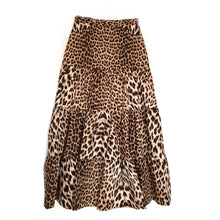 Load image into Gallery viewer, LONG GATHERED TIERED SKIRT - Roberto Cavalli Leopard