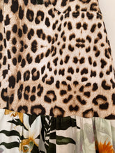 Load image into Gallery viewer, Savvanah Long GATHERED TIERED SKIRT - Roberto Cavalli Leopard & floral