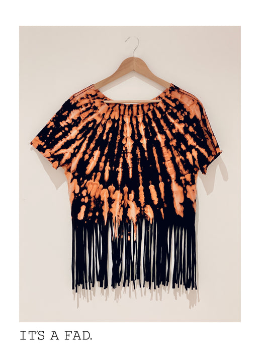 Radical Tee  - Reverse Dye Fringe Tee  - Men's Medium T