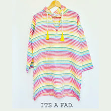 Load image into Gallery viewer, Short Linen Rainbow Kaftan
