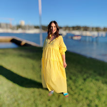 Load image into Gallery viewer, Sunshine Yellow Tiered Dress