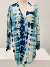 Load image into Gallery viewer, Navy Ice Dye Sister Merino Wool Cardigan