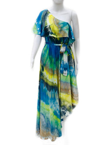 Silk Off the shoulder ice dye dress