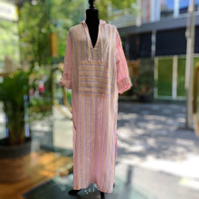 Load image into Gallery viewer, Pink Stripe Kaftan, women's One Size